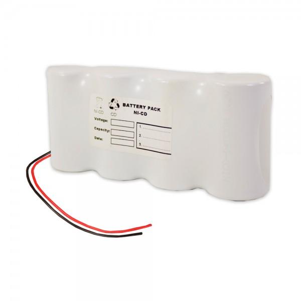 Akku Pack 4,8V 2500mAh für Notbeleuchtung Reihe NiCd F4x1 4xC-Hochtemperaturzellen Kabel