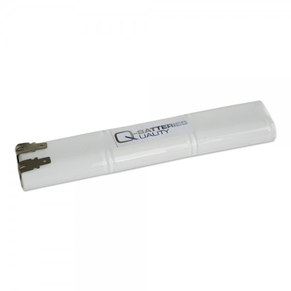 Akku Pack 7,2V 1800mAh für Notbeleuchtung Stab NiCd L3x2 6xC-Hochtemperaturzellen Faston +6,3/-4,8