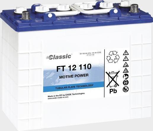 Exide Classic FT 12 110 Antriebsbatterie 12 Volt 110 Ah (5h) mit PzS-Platten