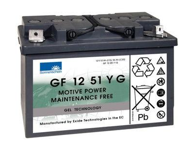 Exide Sonnenschein GF 12 051 Y G1 dryfit Blei Gel Antriebsbatterie 12V 56Ah (5h) VRLA