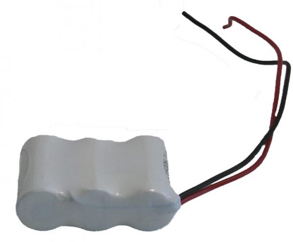 Akku Pack 3,6V 1600mAh Reihe NiMH F3x1 3xAA-Industriezellen Kabel