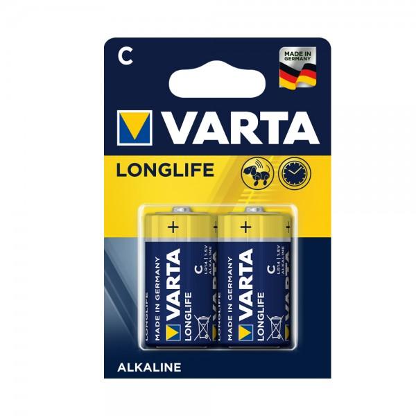 Varta Longlife Baby C Batterie 4114 LR14 (2er Blister)