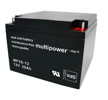 Multipower MP26-12 / 12V 26Ah Blei Akku AGM mit VdS Zulassung