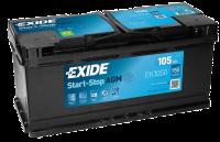 Exide EK1050 Start-Stop AGM 12V 105Ah 950A Autobatterie