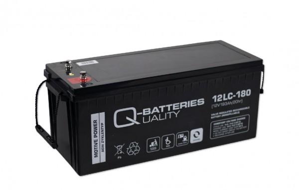 Q-Batteries 12LC-180 / 12V - 193Ah Blei Akku Zyklentyp AGM - Deep Cycle VRLA