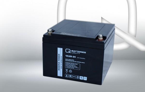 Q-Batteries 12LSX-24 12V 24Ah Blei-Vlies-Akku / AGM 10 Jahre