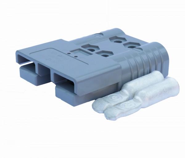 Anderson Flachstecker SBE 160A grau, Stecker inkl. 2 Hauptkontakte, 36V, 50mm² (oder ähnlich Anderso