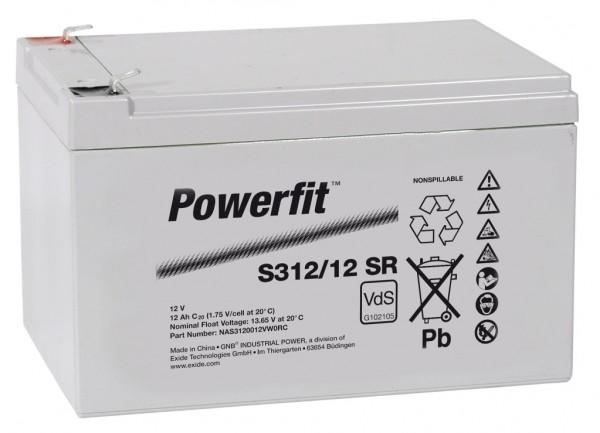 Exide Powerfit S312/12 SR 12V 12Ah dryfit Blei-Akku AGM mit VdS