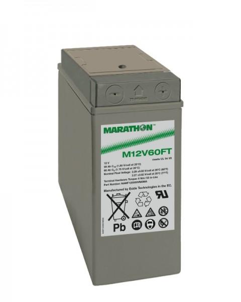 Exide Marathon M12V60FT 12V 59Ah UL94-V0 Frontterminal AGM Blei-Vlies Akku VRLA