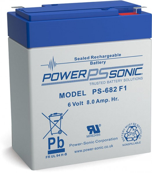 Powersonic 6V 8Ah Blei-Vlies Akku AGM VRLA PS 682