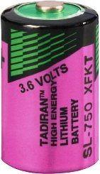 Tadiran SL 750 S / ER - 1/2 AA Lithium Rundzelle 3,6V Lithium-Thionylchlorid UN3090 - SV188