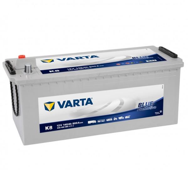 VARTA K8 ProMotive Super Heavy Duty 12V 140Ah 800A LKW Batterie 640 400 080