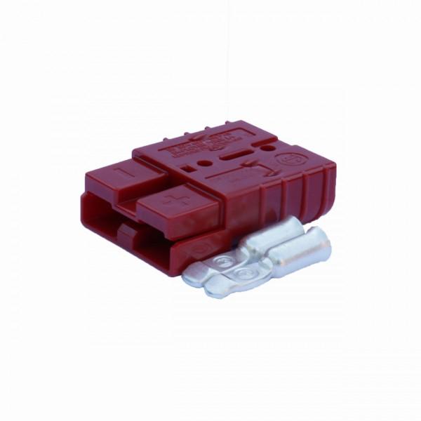 Anderson Flachstecker SB 50A rot, Stecker inkl. 2 Hauptkontakte, 24V, 16mm² (oder ähnlich Anderson)