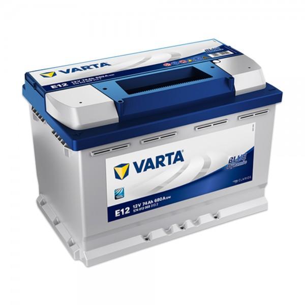 VARTA E12 Blue Dynamic 12V 74Ah 680A Autobatterie 574 013 068