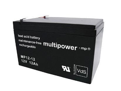 Multipower MP12-12 / 12V 12Ah Blei Akku mit VdS Zulassung