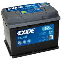Exide EB620 Excell 12V 62Ah 540A Autobatterie