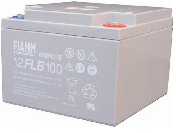 Fiamm HighLite 12FLB100P 12V 26Ah AGM Blei-Vlies 10-12 Jahres-Batterie