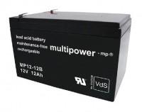 Multipower MP12-12B / 12V 12Ah Blei Akku AGM mit VdS Zulassung