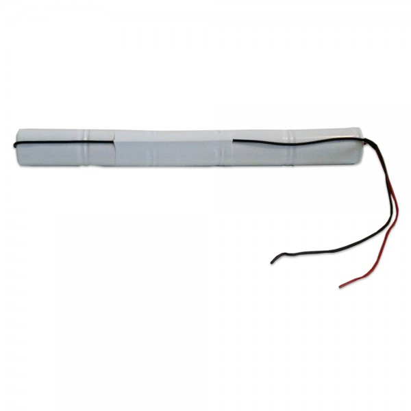 Akku Pack 6V 1500mAh für Notbeleuchtung Stab NiCd L5x1 5xSub-C Hochtemperaturzellen Kabel