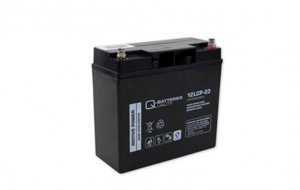 Q-Batteries 12LCP-23 / 12V - 23Ah Blei Akku Zyklentyp AGM - Deep Cycle VRLA Schraubanschluss M5