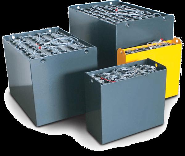 Q-Batteries 24V Gabelstaplerbatterie 4 PzS 500 Ah (765 * 296 * 627mm L/B/H) Trog 42185100 inkl. Aqua