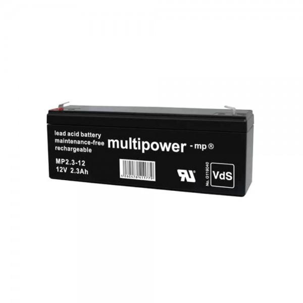 Multipower MP2,3-12 / 12V 2,3Ah Blei Akku AGM mit VdS Zulassung