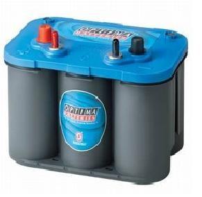 Optima Blue Top BT SLI - 4.2, 12V 50Ah, AGM Starterbatterie, Spiralcell Technologie