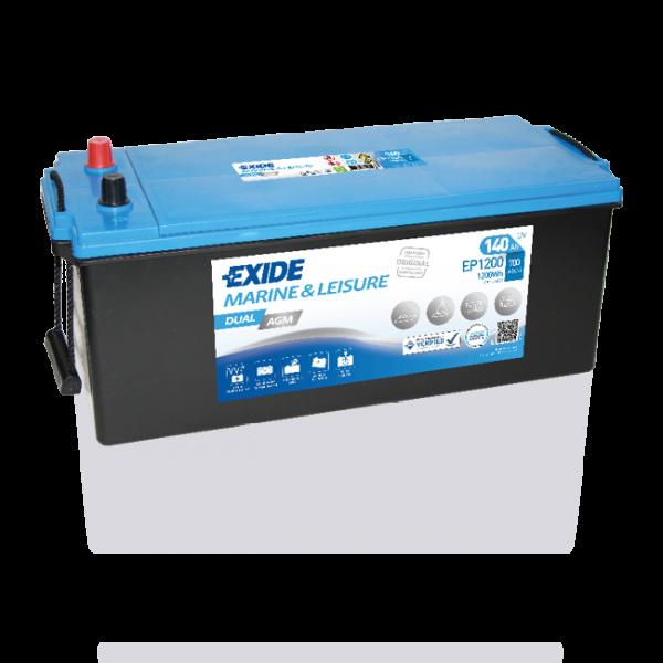 Exide EP1200 Dual AGM Starter-, Versorgungsbatterie 12V 140Ah