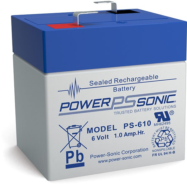 Powersonic 6V 1,0Ah Blei-Vlies Akku AGM PS 610