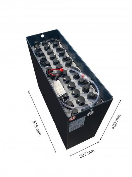 Q-Batteries 24V Gabelstaplerbatterie 2 PzS 160 Ah (575 * 207 * 480mm L/B/H) Trog 57064022 inkl. Aqua