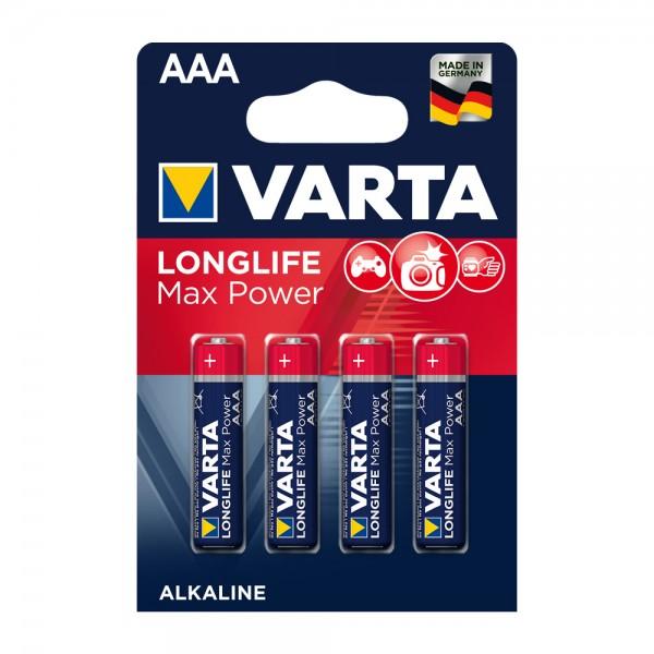 Varta Longlife Max Power Micro AAA Batterie 4703 LR03 (4er Blister)