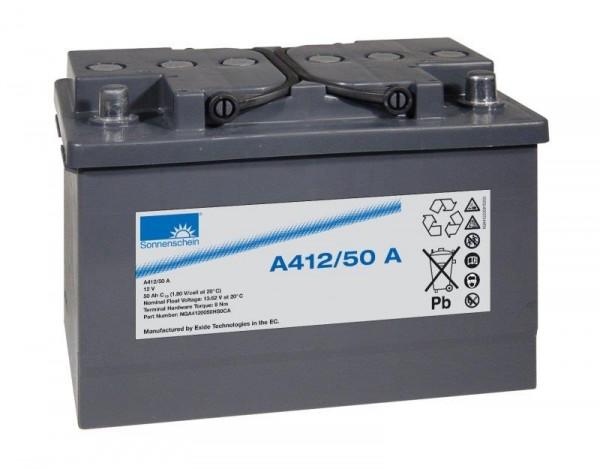 Exide Sonnenschein A412/50 A 12V 50Ah dryfit Blei-Gel-Akku VRLA