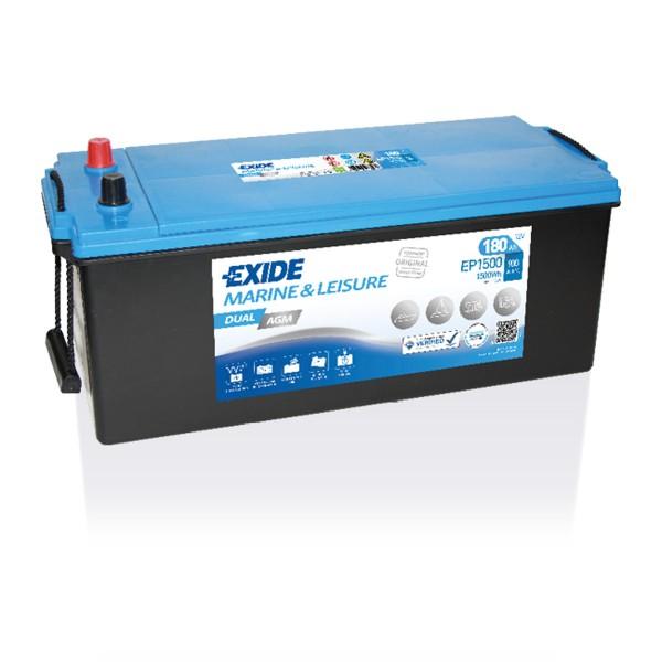 Exide EP1500 Dual AGM Starter-, Versorgungsbatterie 12V 180Ah