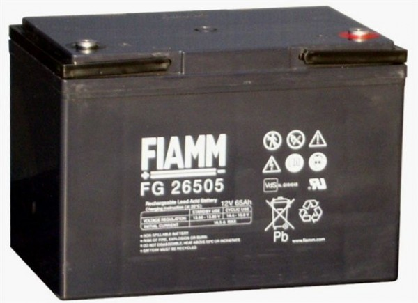 Fiamm FG26507 12V 65Ah Blei Akku / Blei-Vlies Akku AGM VRLA mit VdS (FG26505)