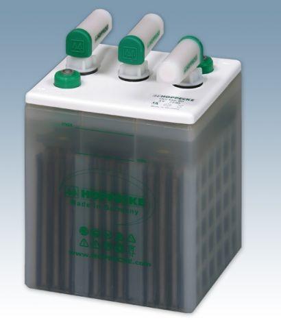 Hoppecke grid | power VH 6-80 OGi bloc 6V 80 / 6V 93Ah (C10) geschlossene Blei - Blockbatterie mit