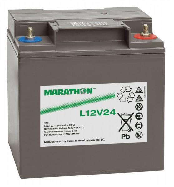 Exide Marathon L12V24 12V 23,5Ah AGM Blei Akku VRLA