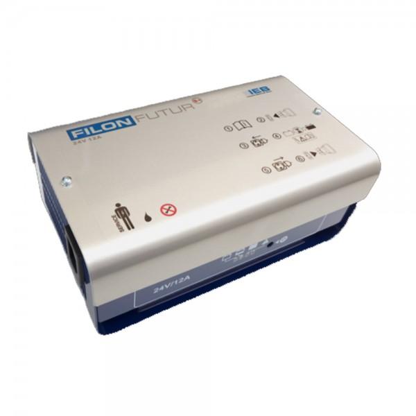 IEB Filon Futur S+ E230 G24/12 B70-FP (AC-Netz) für Blei Akku 24V 12A Ladestrom XLR-Stecker