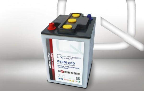 Q-Batteries 6SEM-230 6V 230Ah Semitraktionsbatterie