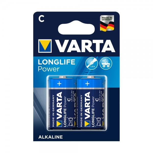 Varta Longlife Power Baby C Batterie 4914 LR14 (2er Blister)