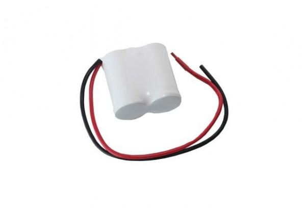 Akku Pack 2,4V 1800mAh Reihe NiCd F2x1 2xSub-C Hochtemperaturzellen / Kabel