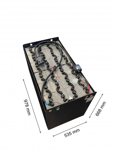 Q-Batteries 48V Gabelstaplerbatterie 7 PzB 700 Ah (978 * 535 * 668mm L/B/H) Trog 57097002 inkl. Aqua