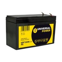 Universal Power AGM UPS12-7.2 F2 12V 7,2Ah AGM Batterie USV Akku wartungsfrei Anschluss F2