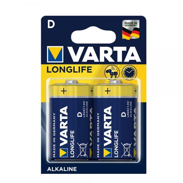 Varta Longlife Mono D Batterie 4120 LR20 (2er Blister)