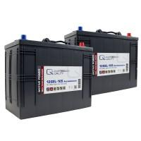 Ersatzakkus für Kärcher Reinigungsmaschinen Scheuersaugmaschinen Gel Batterie 24V 105Ah (2 Stück)