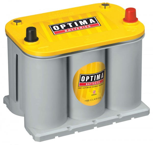 Optima Yellow Top YT R - 3.7, 12V 48Ah, AGM Zyklenfest, Spiralcell Technologie