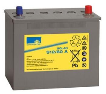 Exide Sonnenschein Solar S12/60 A Blei-Gel Batterie 12V 60Ah