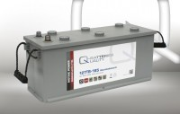 Q-Batteries 12TTB-165 12V 165Ah (C20) geschlossene Blockbatterie, positive Röhrchenplatte