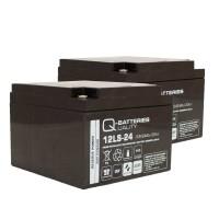 Ersatzakku für Brandmeldezentrale Esser Honeywell IQ8Control M 2 x AGM Batterie 12V 24Ah mit VdS