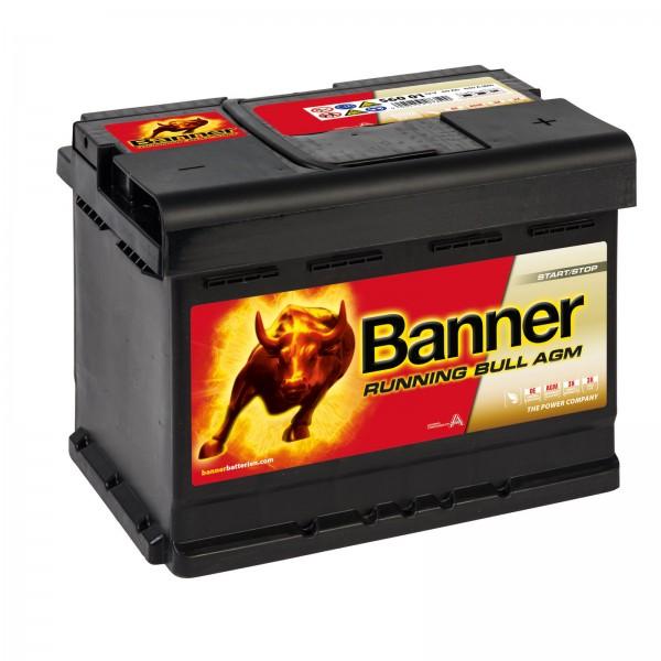 Banner 56001 AGM Running Bull 12V 60Ah 640A Autobatterien