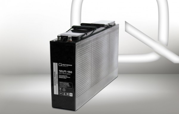 Q-Batteries 12LFT-150 12V 150Ah AGM Frontterminal Blei Akku 10-Jahrestyp VRLA